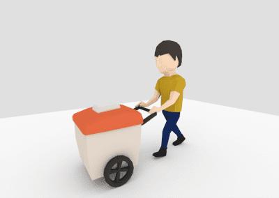 Modelagem e animação de personagem no Blender para jogo. Modelo em low poly.
