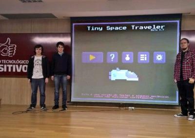 Pitch acadêmico durante o curso de Jogos Digitais no Centro Tecnológico Positivo, em Curitiba/PR (NotDog / Foto: Divulgação)