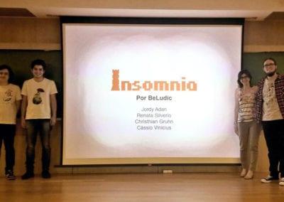 Pitch acadêmico durante o curso de Jogos Digitais no Centro Tecnológico Positivo, em Curitiba/PR (BeLudic Games / Foto: Evandro Zatti)