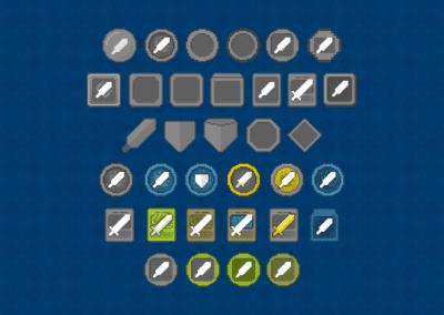 UI concept study in Pixel Art