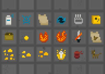 Itens coletáveis em Pixel Art