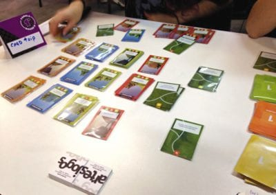 Participação no 1º Tábula & Board's (em Curitiba), com o playtest do jogo Card Trip.